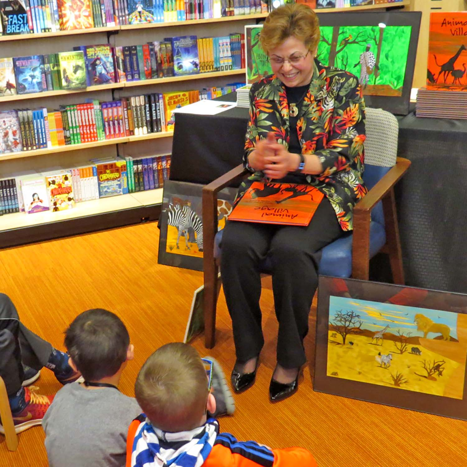 INMED OC - Nelda Talkng with children @ B&N