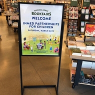 INMED OC - Book Fair sign @ B&N