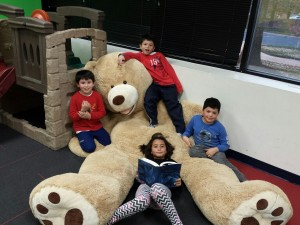 kids and bear