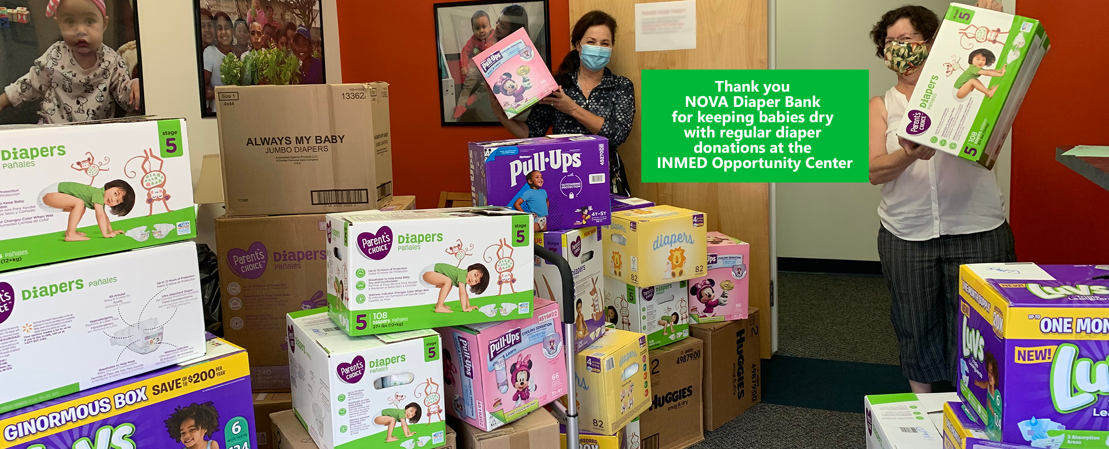 INMED USA receives donations from NOVA DIaper Bank